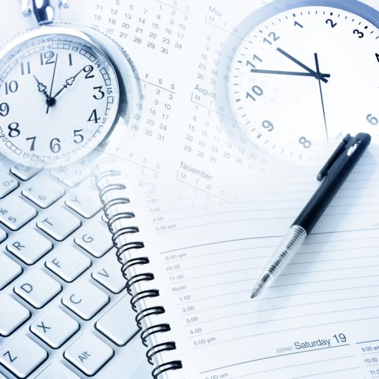 Various business objects. Time management